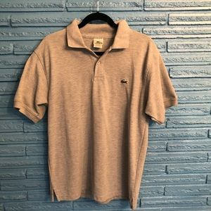 LACOSTE SHORT SLEEVE POLO STYLE Gray SHIRT
